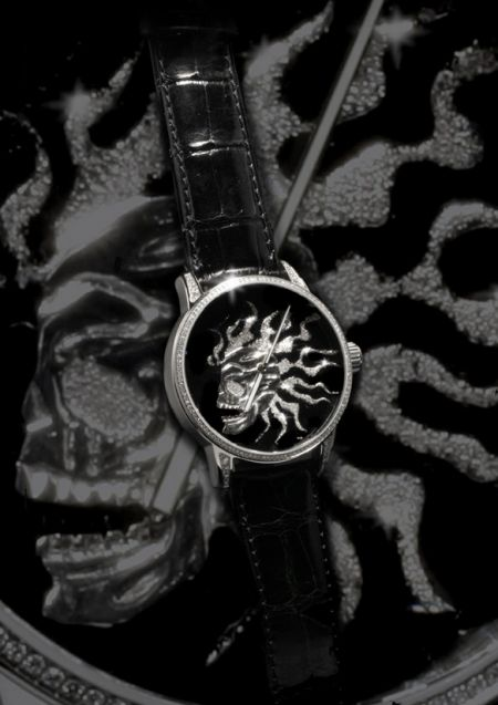 Angular Momentum Happy Skull Tec and Art High Relief  Happy Skull